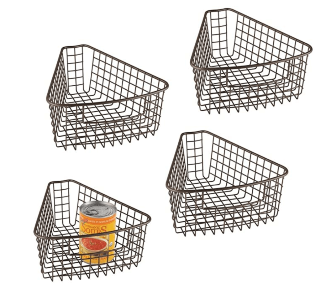 lazy susan divider baskets