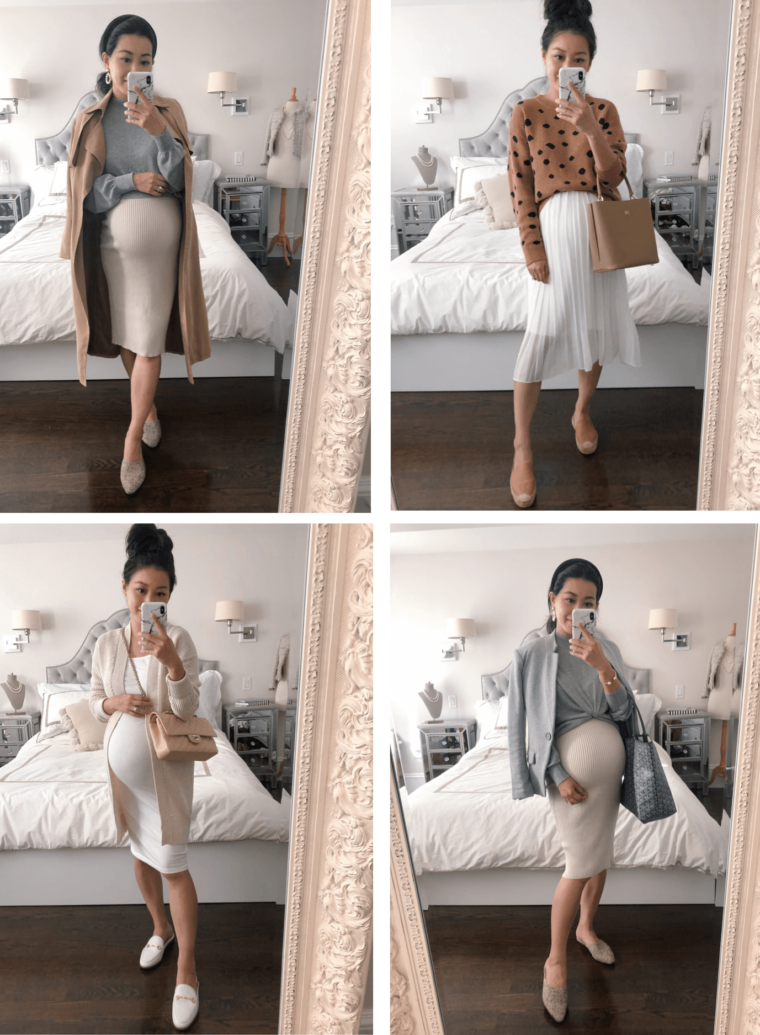 Maternity Outfits with Flats