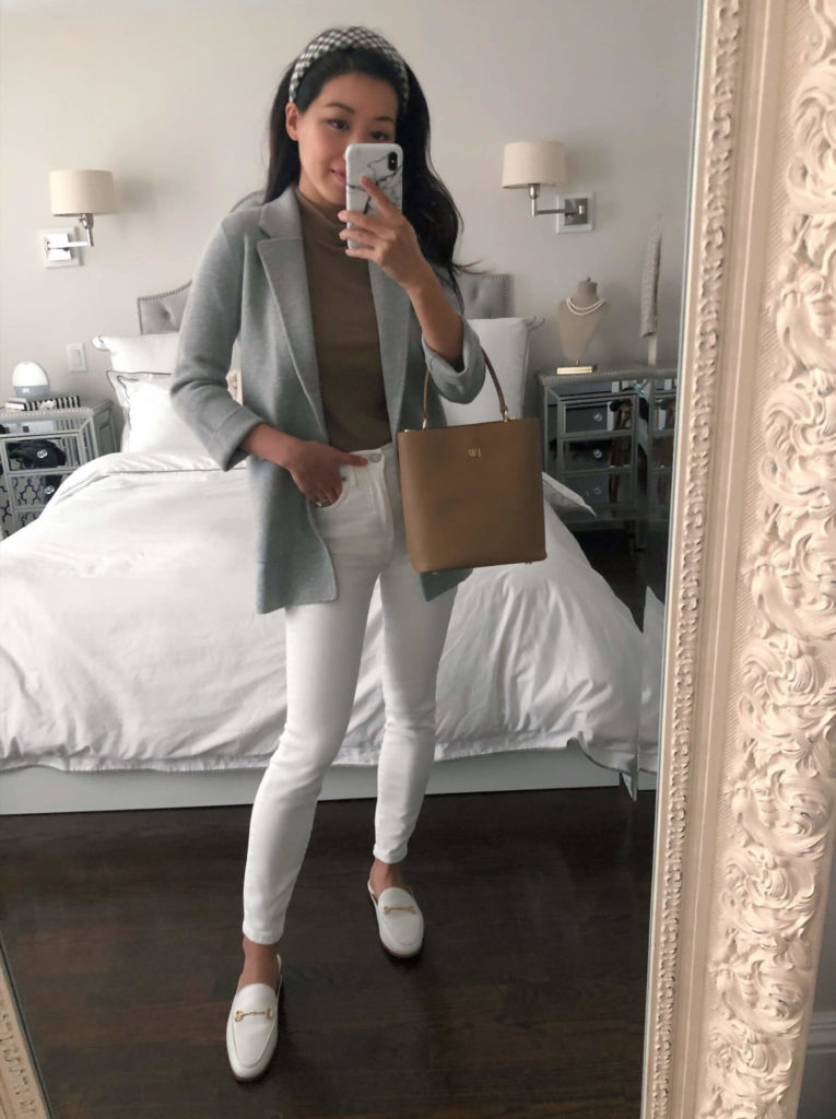 jcrew sophie everlane white jeans petite outfit