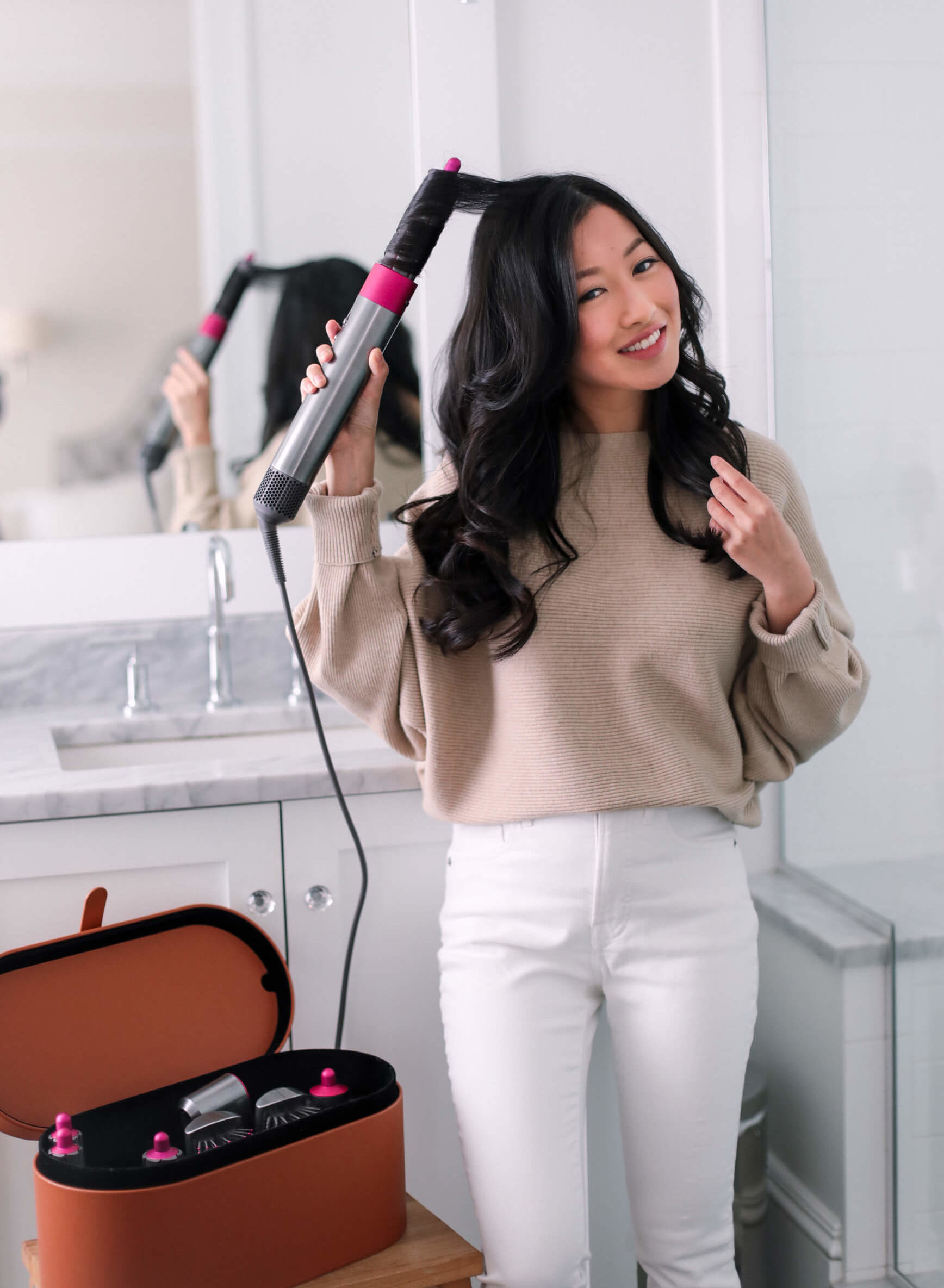 Dyson Airwrap review on long asian hair