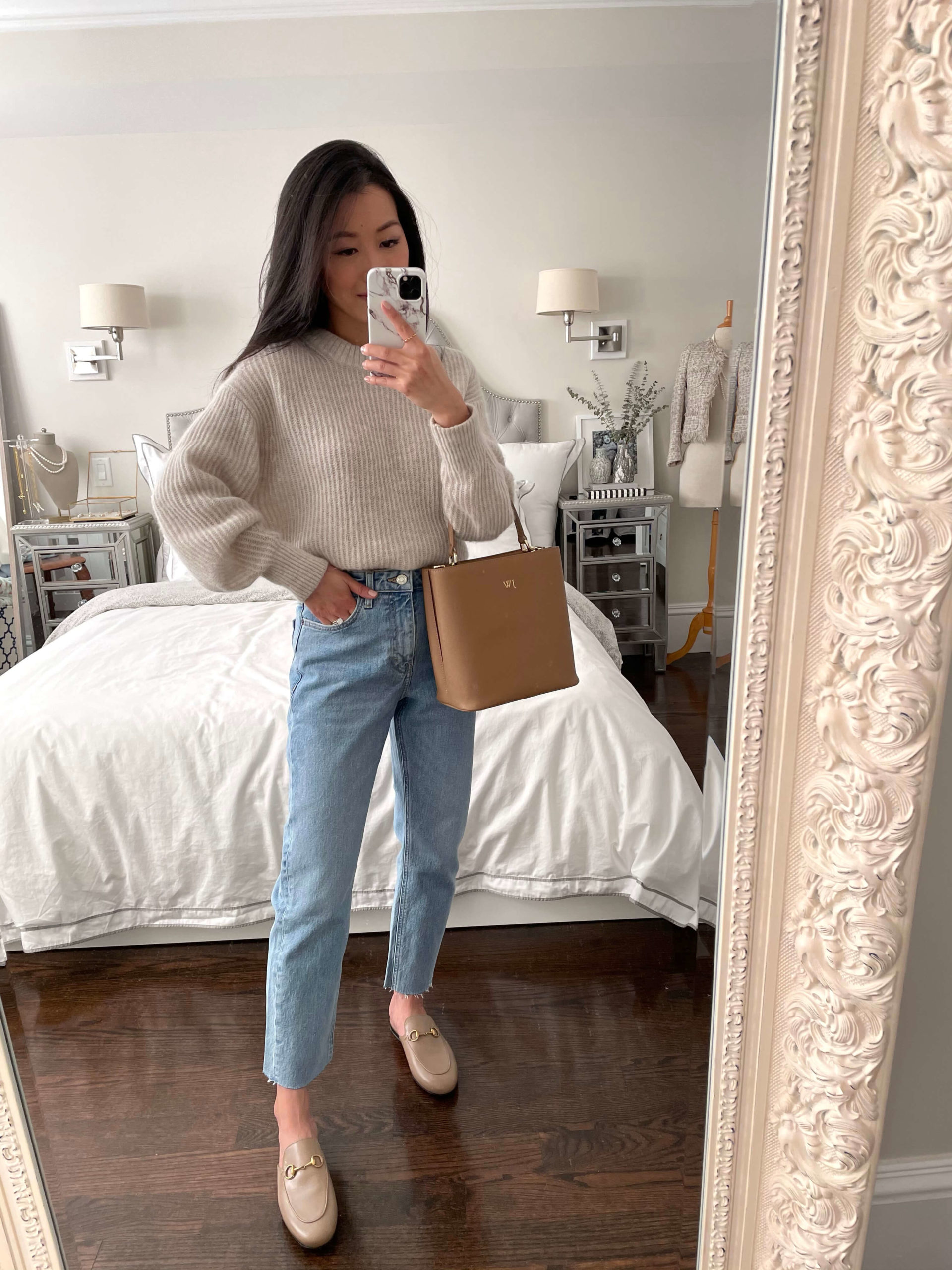 Gucci loafer spring outfit