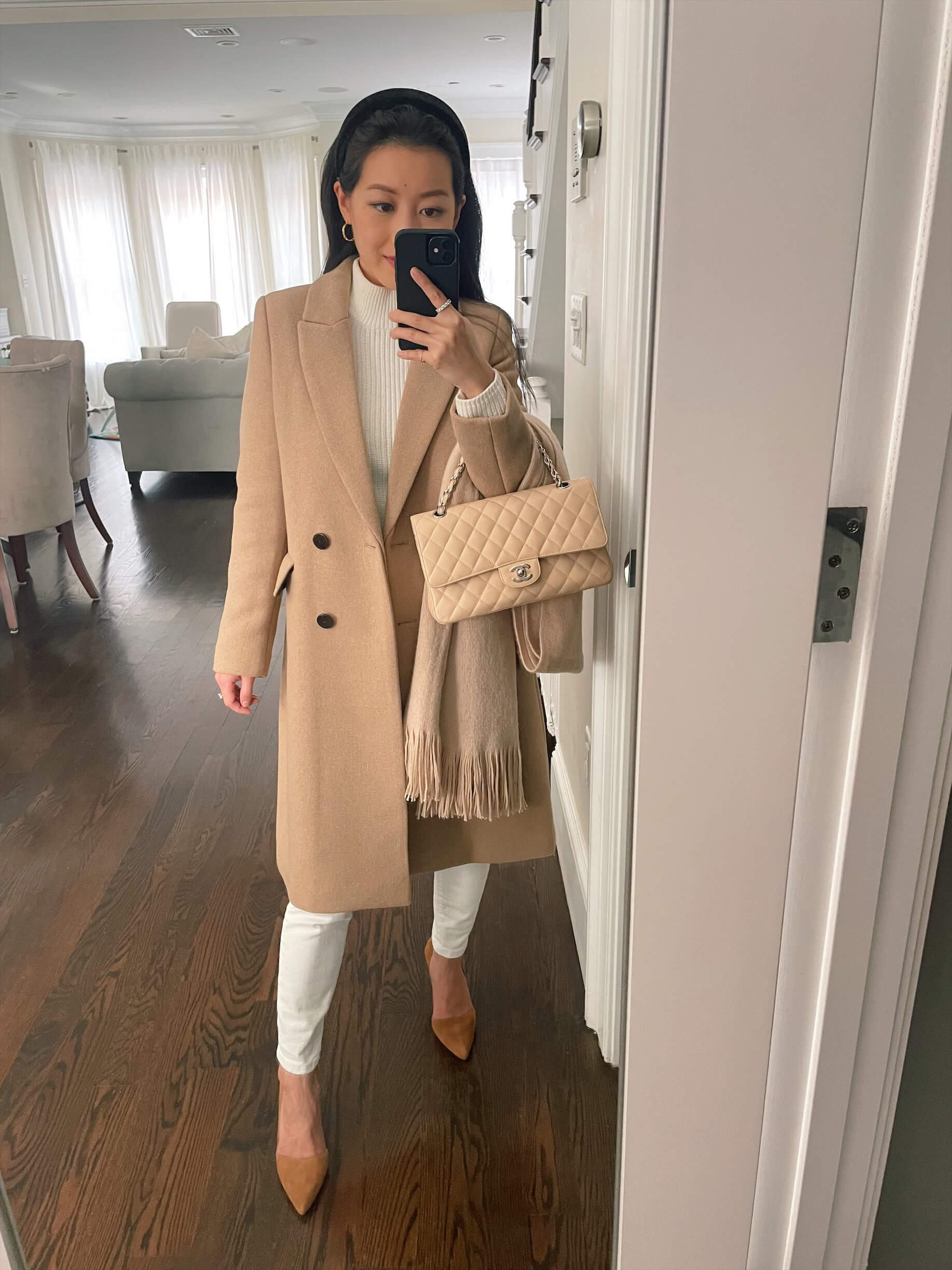 winter work outfit for petite women