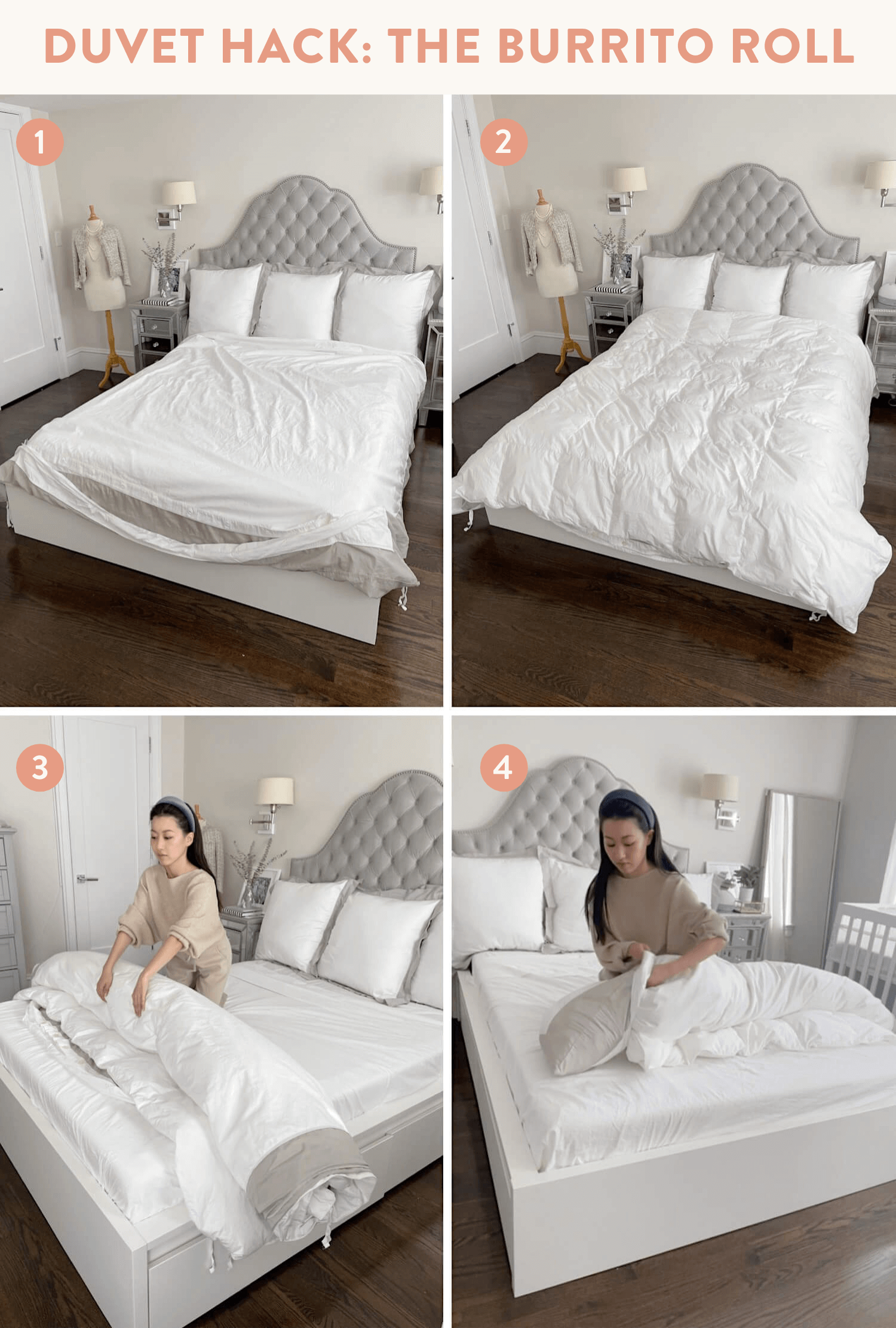 how to easily put on a duvet trick bedding style