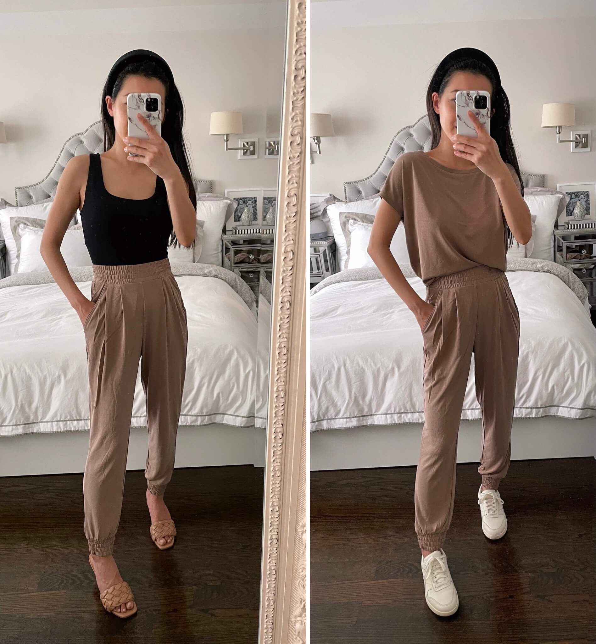 petite jersey joggers outfit