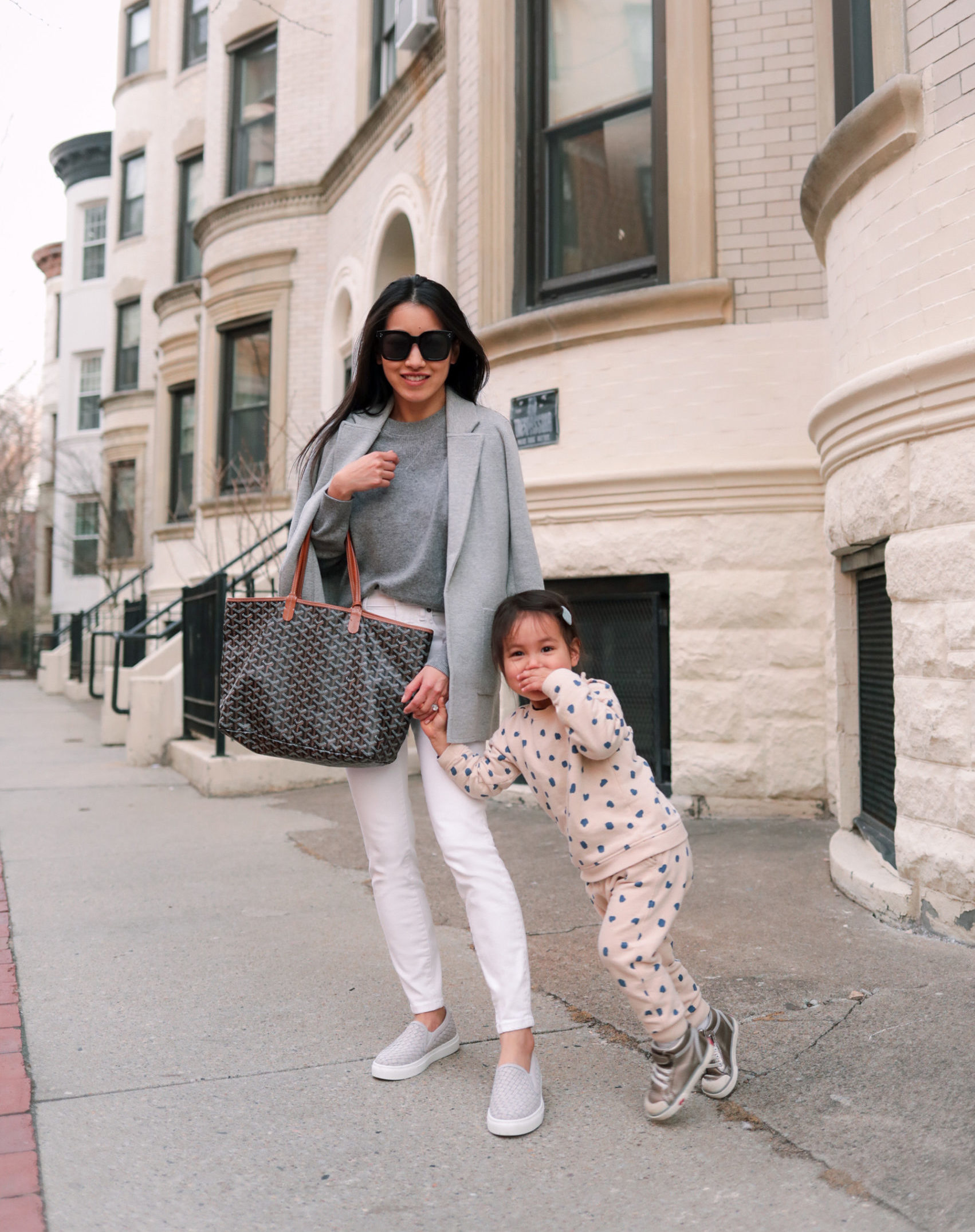 jcrew sophie cardigan gray mommy and me outfit