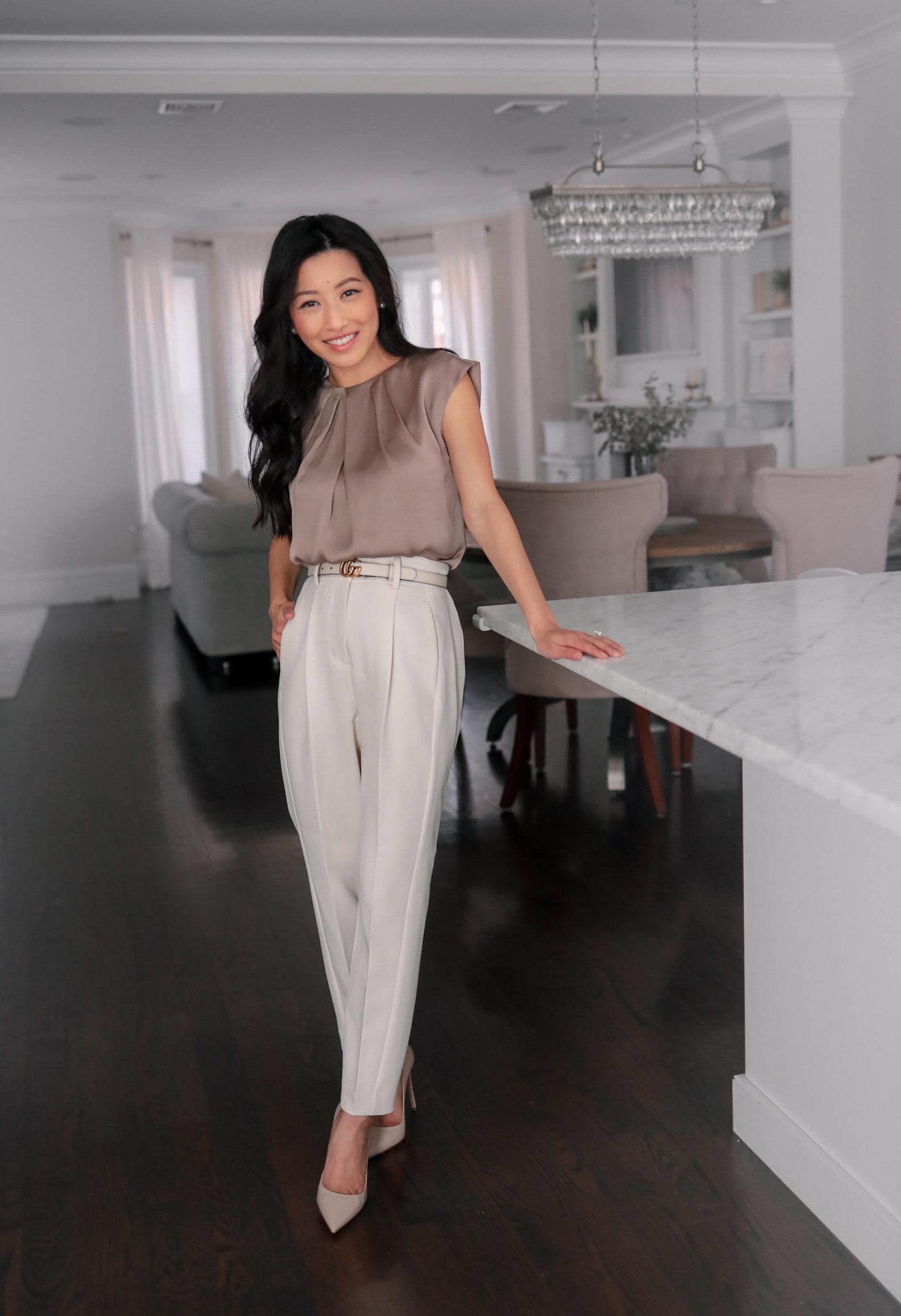 petite spring work outfit