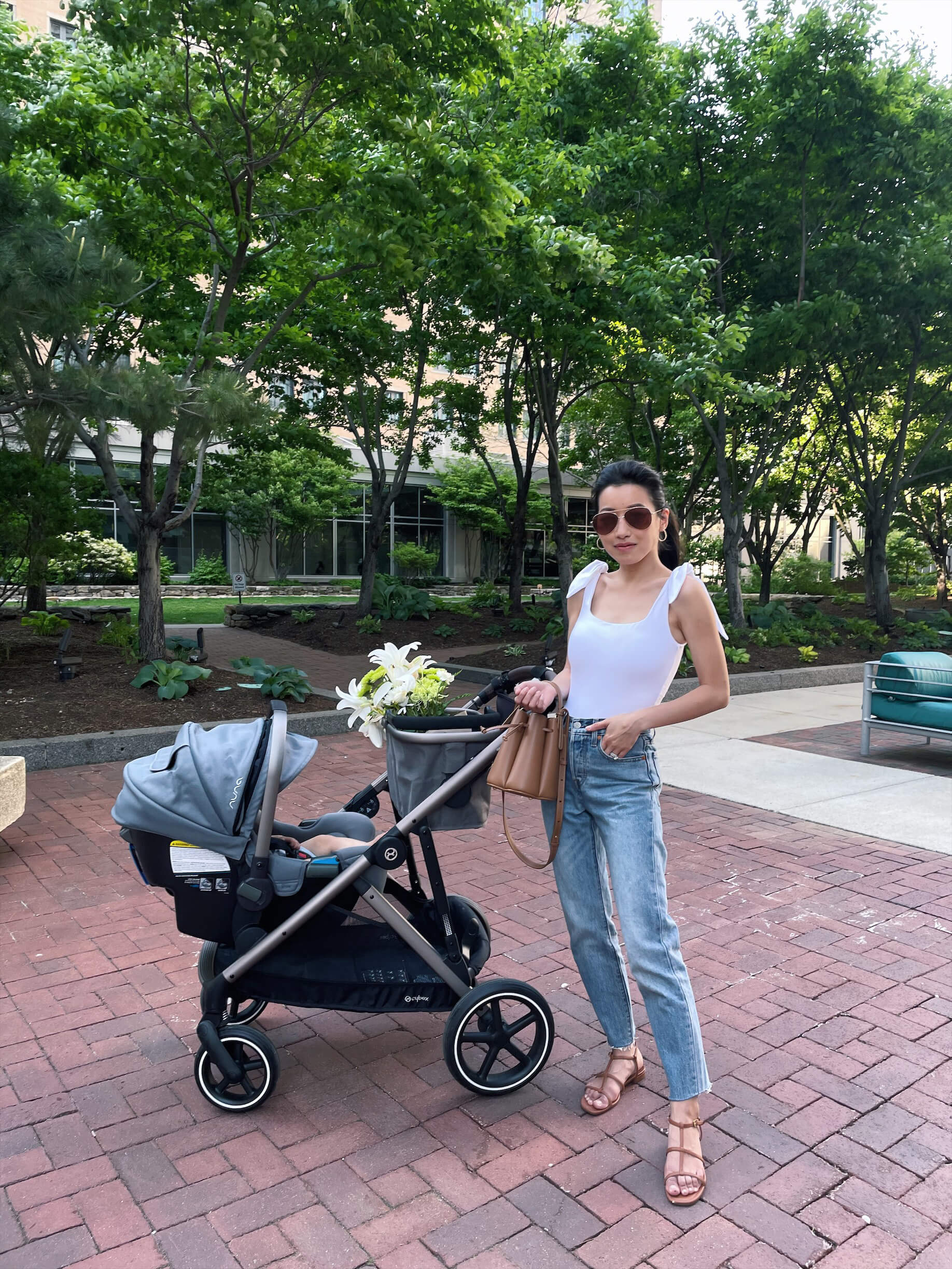 cybex gazelle S double stroller review with basket