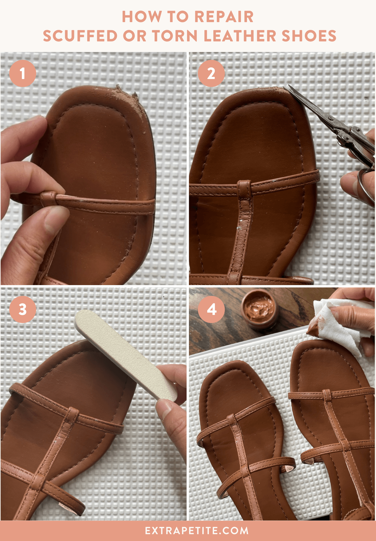 How to repair leather shoes
