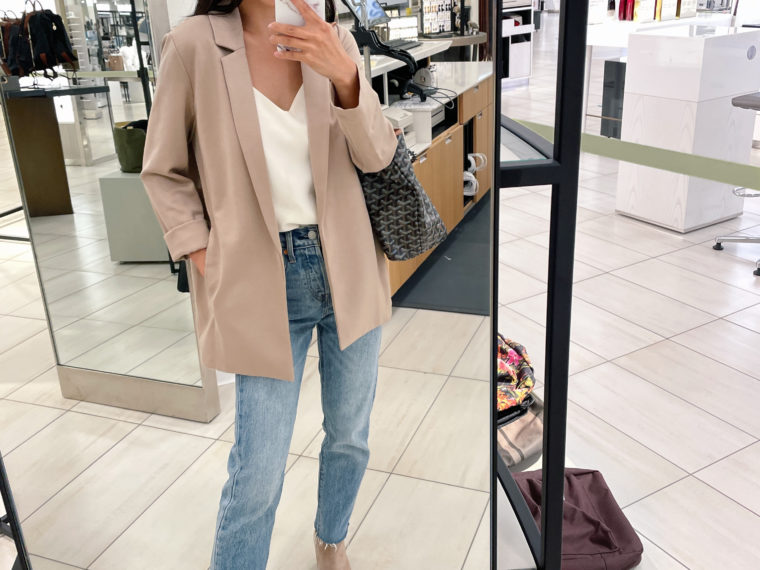 eileen fisher petite blazer jacket fall 2021 outfit