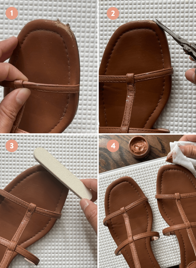 how to repair leather sandals