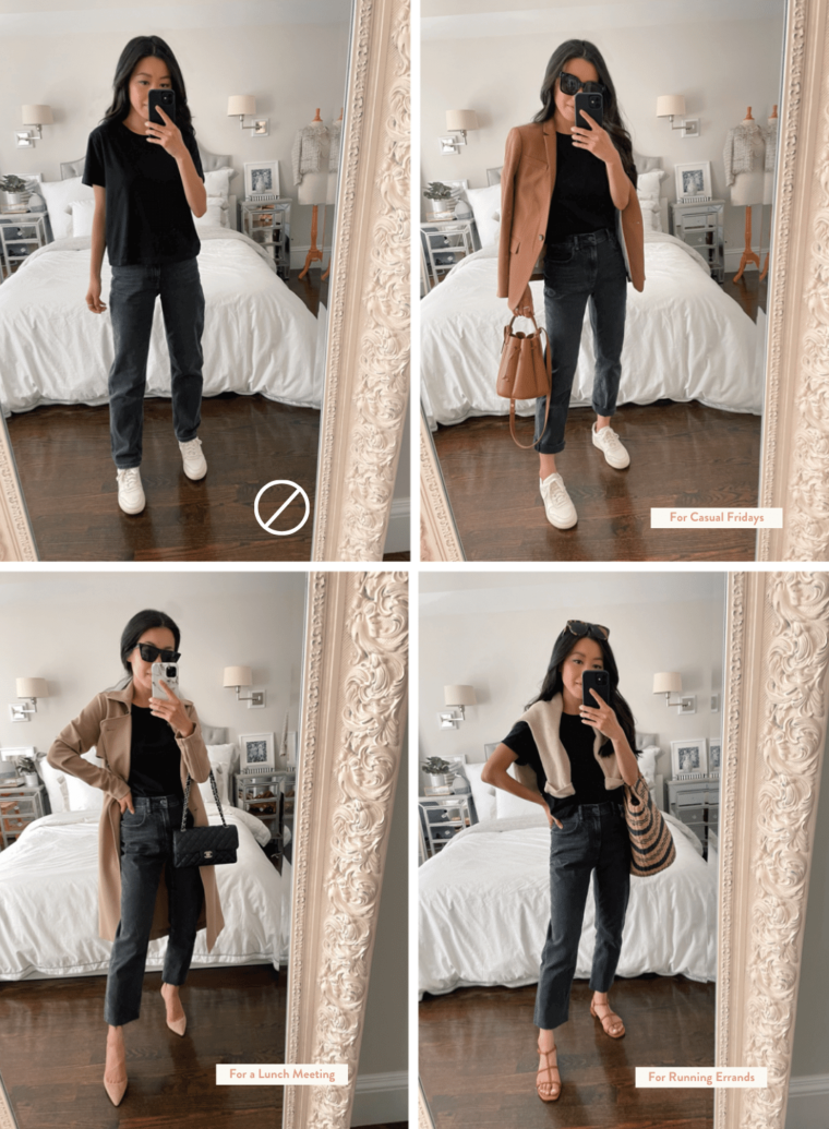 how to style straight jeans for petites