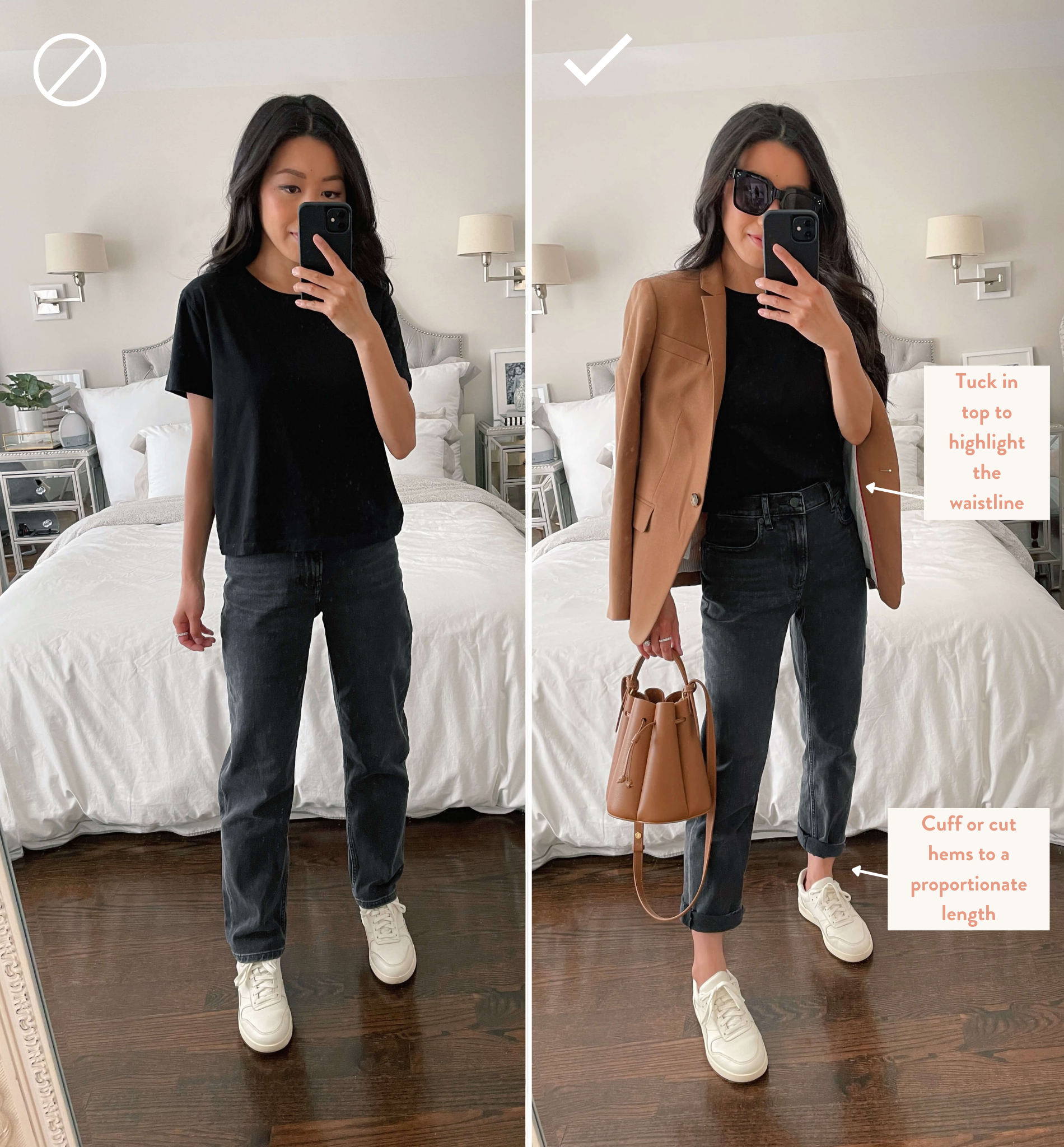 how to style everlane cheeky jeans petite