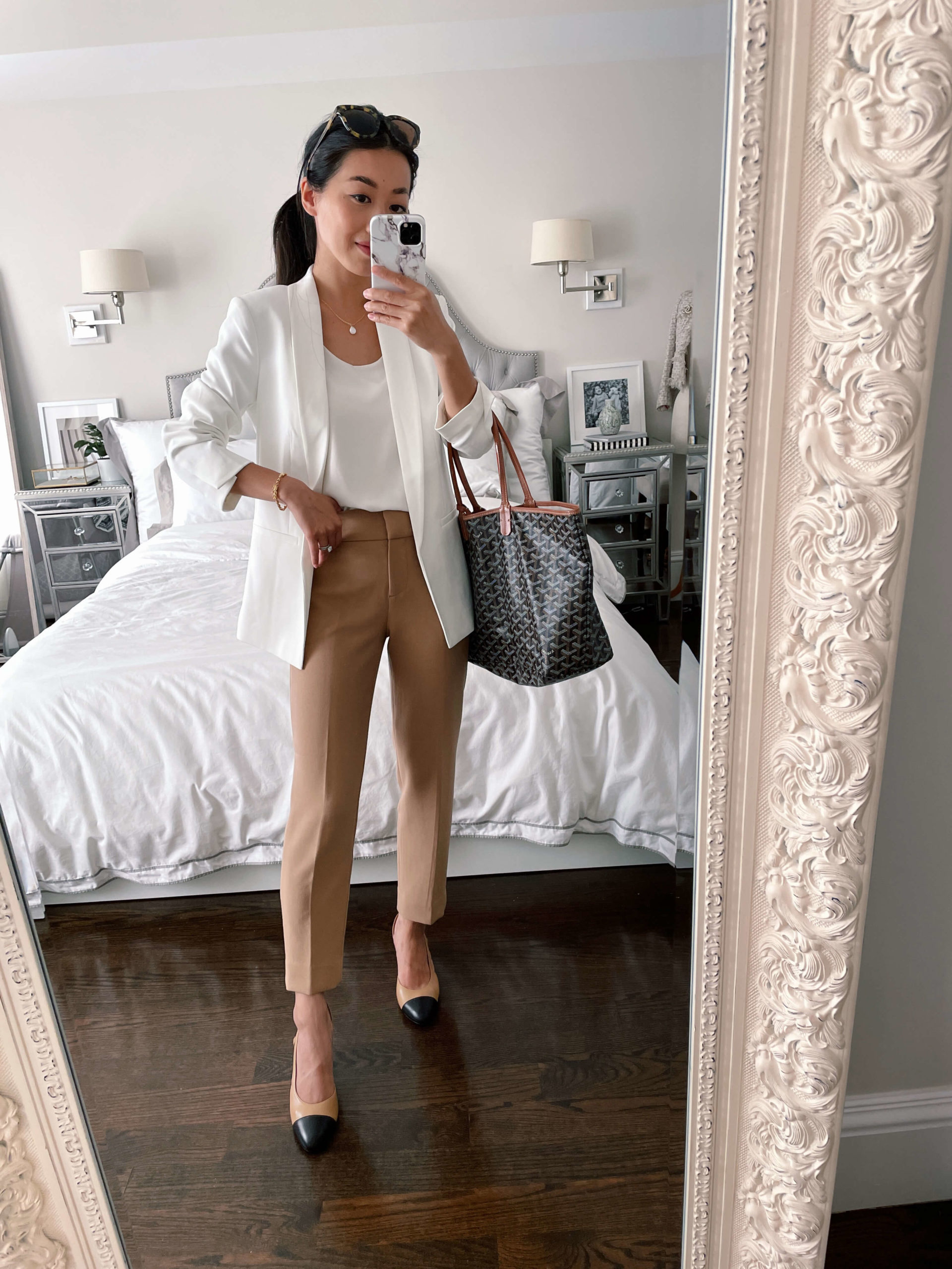 camel pants work outfits