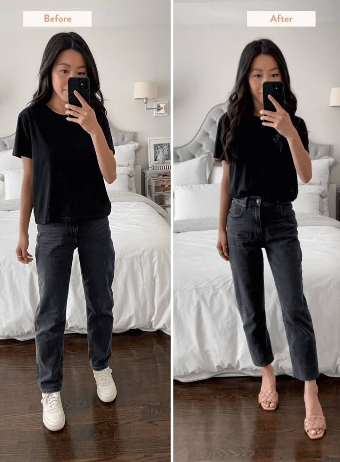 how to cut jean hems that are too long