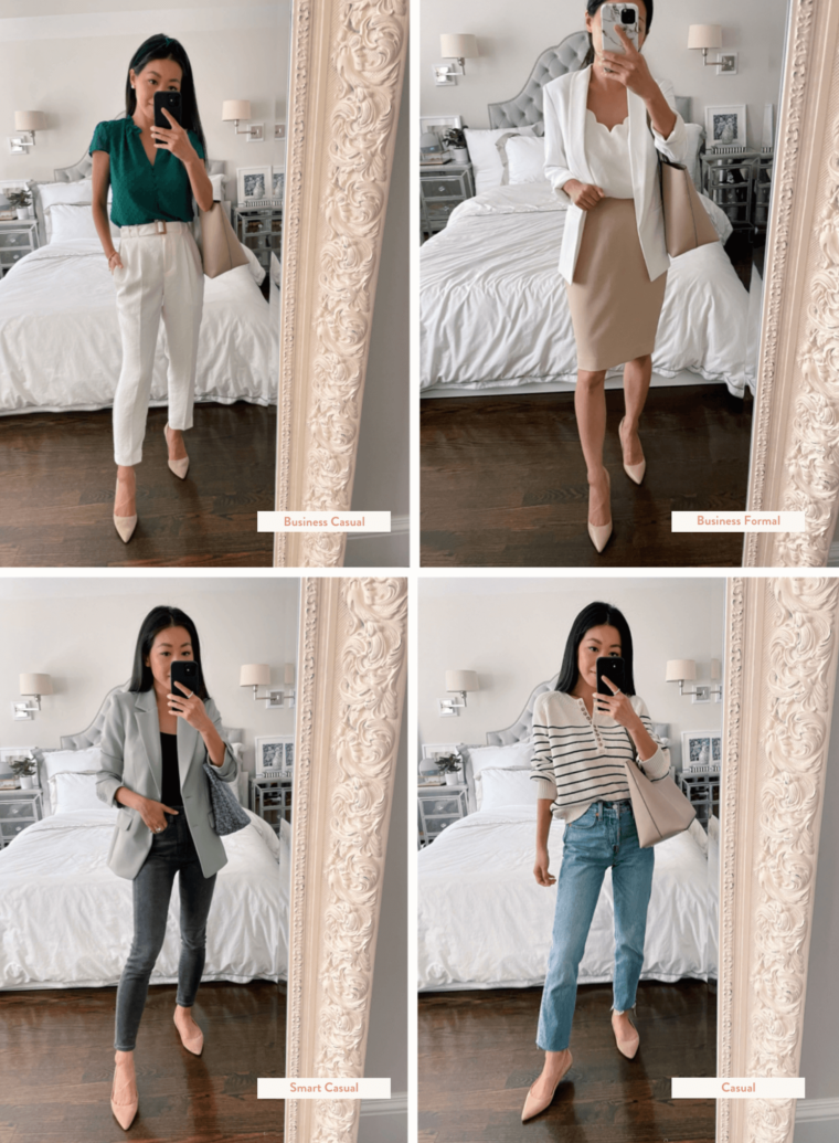 work outfits for each dress code